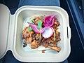 Peruvian potato and chorizo taco with arbol chile, cilantro, radish, & pickled onion - 16718575643.jpg