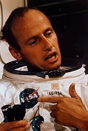 Pete Conrad during EVA training in the Flight Crew Support Building
