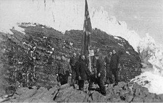 Territorial claims in Antarctica - Norwegian expedition landing on the Peter I Island island in 1929.