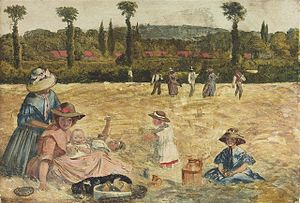 Peter Paul Marshall - Haymaking by Peter Paul Marshall, 1860.