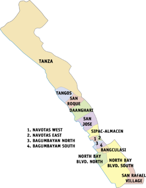 Navotas - Political map of Navotas