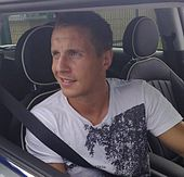Phil Jagielka in his car