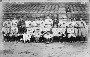 1915 World Series - Philadelphia team photo taken on October 4, 1915.