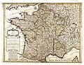 Philippe Buache Carte de France divisee suivant les quatre departements de Messieurs les secretaires dEtat 07710637.jpg
