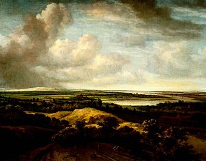 Philip de Koninck - Landscape with river and sanddune