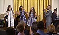 Phillipa Soo, Renée Elise Goldsberry, Jasmine Cephas-Jones and Leslie Odom Jr Hamilton White House 01.jpg