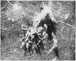 Photograph made from B-17 Flying Fortress of the 8th AAF Bomber Command on 31 Dec. when they attacked the vital CAM bal - NARA - 535712.tif