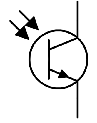Photodiode - Electronic symbol for a phototransistor
