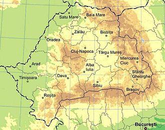 transsilvanien karte Siebenbürgen – Reiseführer auf Wikivoyage transsilvanien karte