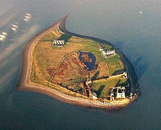 Piel Island - An aerial view of Piel Island.