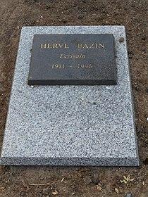 Pierre tombale d'Hervé Bazin.JPG