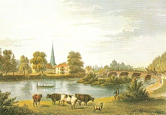 Eppendorf, Hamburg - Eppendorf in 1845, similar view as above