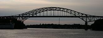 Piscataqua River Bridge - The Piscataqua River Bridge seen from the Sarah Mildred Long Bridge