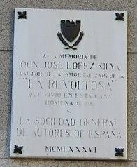Placa conmemorativa de José López Silva