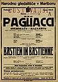 Plakat za predstavi Pagliacci in Bastien in Bastienne v Narodnem gledališču v Mariboru 9. decembra 1926.jpg