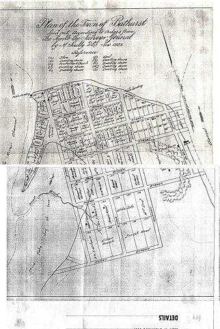File Plan Of The Town Of Bathurst November 1828 Jpg