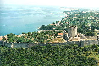 Platamon Castle - Castle of Platamon from above.