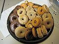 Plate of assorted donuts.JPG