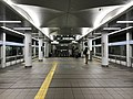 Platform of Cosmosquare Station (Nanko Port Town Line) 2.jpg