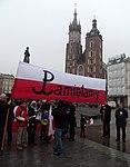 Początek marszu na Rynku Głównym (8721303948).jpg