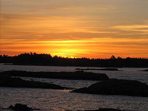 Pointe au Baril, Ontario - Sunrise at Pointe Au Baril
