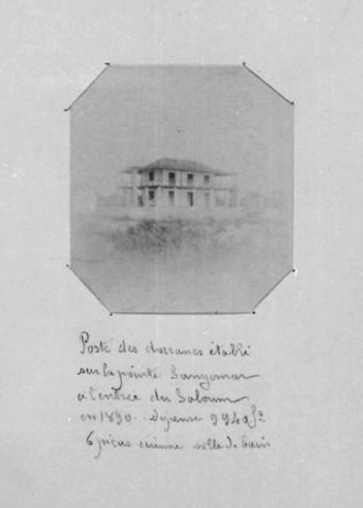 Point of Sangomar - Customs post established on the edge of Sangomar in 1890