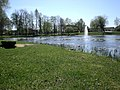 Pond with fountain - panoramio.jpg