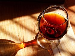 A glass of port wine