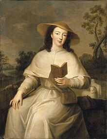 Portretul lui Louise Adélaide d'Orléans îmbrăcată în pelerin de un artist anonim după Jean Baptiste Santerre (Versailles) .jpg