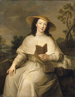 Portrait of Louise Adélaide d'Orléans dressed as a pilgrim by an anonymous artist after Jean Baptiste Santerre (Versailles).jpg