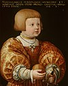 Portrait of Maximilian of Austria (1527-1576), Aged Three by Jacob Seisenegger Mauritshuis 271.jpg