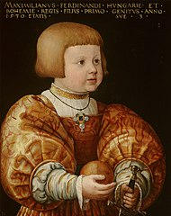 Portrait of Maximilian of Austria (1527-1576), Aged Three
