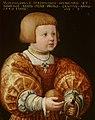 Portrait of Maximilian of Austria (1527-1576), Aged Three by Jacob Seisenegger Mauritshuis 271.jpg
