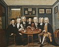 Portrait of Thomas and John Cockman and some Fellows of University College, by Benjamin Ferrers.jpg