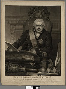 Portrait of To the King's most excellent Majesty, this print of Sir Joseph Banks (4672218).jpg