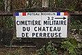 Poteau Michelin direction Cimetière Militaire Château Perreuse Jouarre 1.jpg