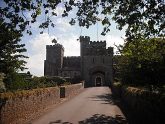 William Bonville, 1st Baron Bonville - The western entrance of Powderham Castle, as shown in 2010; Bonville attempted to lift Courtenay's siege here on multiple occasions.
