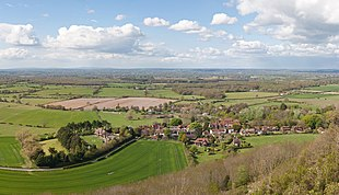 Poynings from the South Downs
