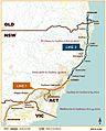 Preferred alignment (2013) of Australian east coast high speed rail system.jpg