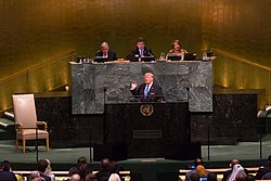President Donald J. Trump addresses the 72nd Session of the United Nations General Assembly (37425397952)