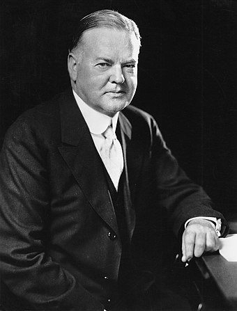Herbert Hoover, 31st President of the United States (1929-1933) President Hoover portrait.jpg