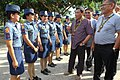 President Rodrigo Duterte is greeted by female police officers during his visit to the Police Regional Office-12 Headquarters in General Santos City on September 23 (2).jpg