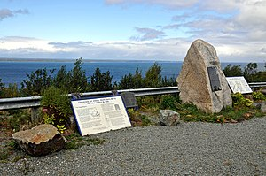 Henry I Sinclair, Earl of Orkney - Monument to the alleged landing site of the Sinclair Expedition, Guysborough, Nova Scotia