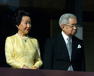 Hanako, Princess Hitachi - Prince and Princess Hitachi at the Chōwaden Reception Hall (2 January 2011)