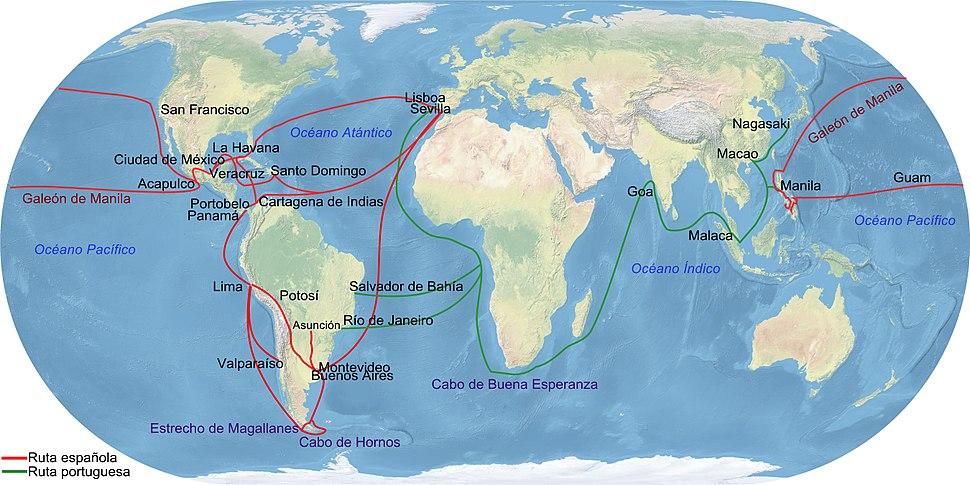 Principales Rutas Comerciales del Imperio Espa%C3%B1ol