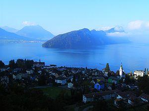 Vitznau - Image: Prise de vue de Vitznau 01 Bürgenstock