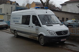 Kosovo Police - Forensics vehicle in Prishtina