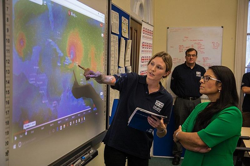 Priti Patel in the Hurricane Irma Crisis Operations Room (37124490675).jpg