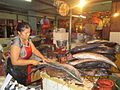 Prized and expensive Tuna fish being sliced for the market..JPG
