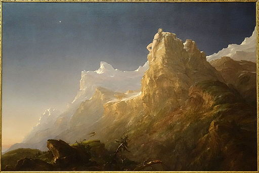 Prometheus Bound by Thomas Cole, 1847, oil on canvas - De Young Museum - DSC01271